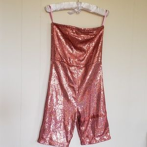 SOLD OUT UO + Motel Sequin Strapless Romper